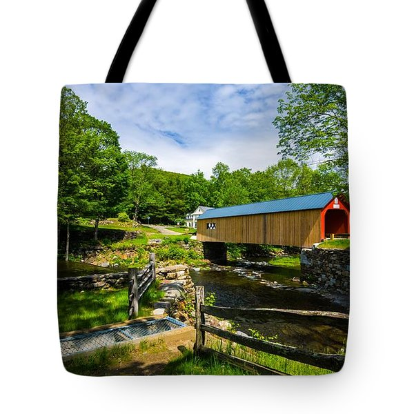 Green River Covered Bridge. Tote Bag