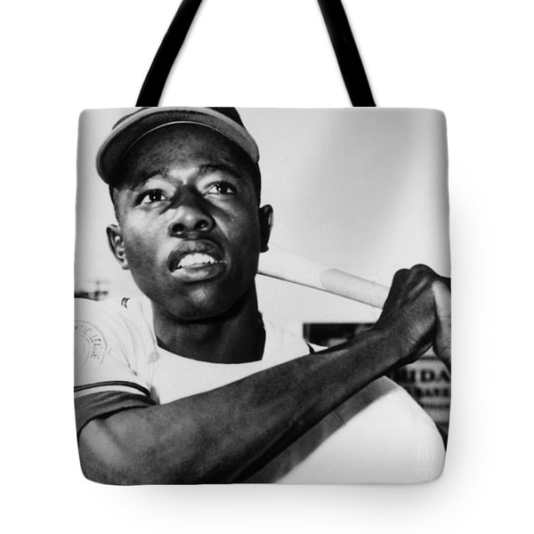 Hank Aaron (1934- ) Tote Bag by Granger