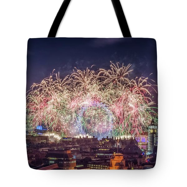 Happy New Year London Tote Bag