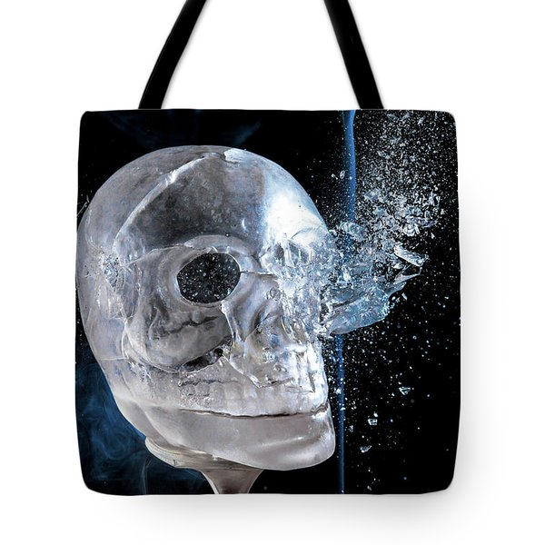 Ice Skullpture Tote Bag