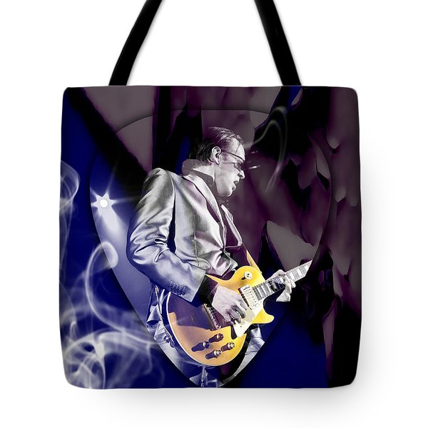 Joe Bonamassa Blues Guitarist Art Tote Bag