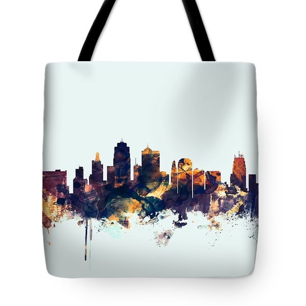 Kansas City Skyline Tote Bag