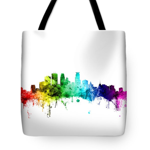 Minneapolis Minnesota Skyline Tote Bag