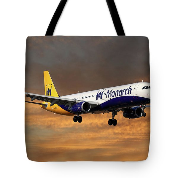 Monarch Airlines Airbus A321-231 Tote Bag