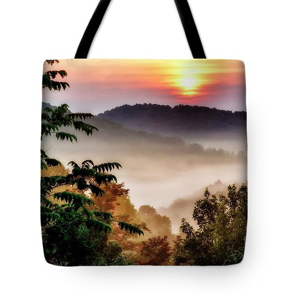 Mountain Sunrise Tote Bag by Thomas R Fletcher