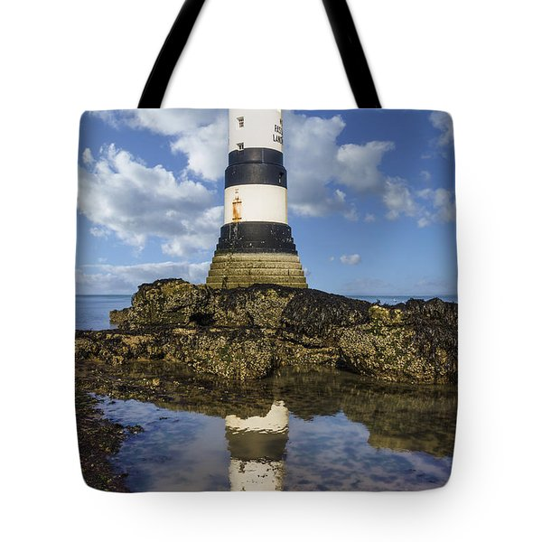 Penmon Lighthouse Tote Bag by Ian Mitchell