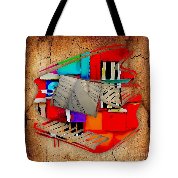 Piano Collection Tote Bag by Marvin Blaine