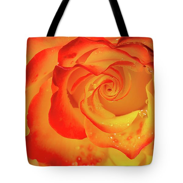 Rose Beauty Tote Bag by Shirley Mitchell