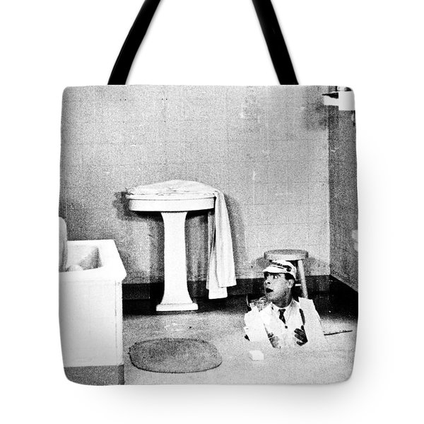 Silent Still: Bathing Tote Bag by Granger