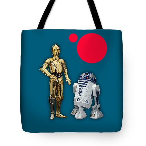 Star Wars C3po And R2d2 Collection Tote Bag