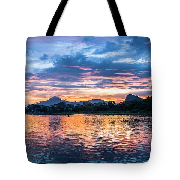Tote Bag featuring the photograph Sunrise Scenery In The Morning by Carl Ning