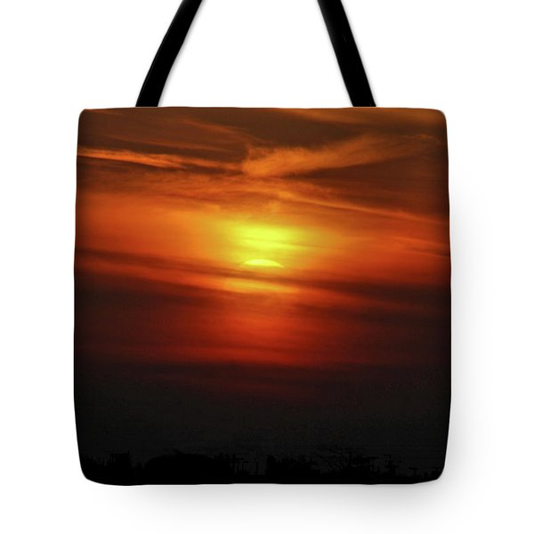 Tote Bag featuring the photograph 7- Sunset by Joseph Keane