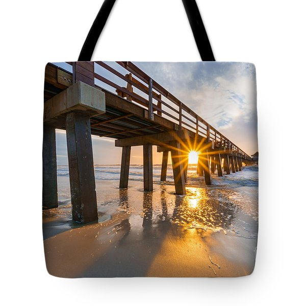 Sunset Naples Pier, Florida Tote Bag