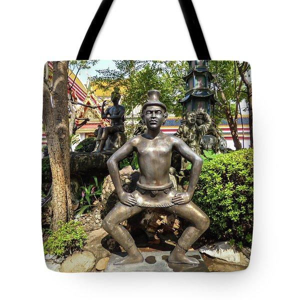 Thai Yoga Statue At Famous Wat Pho Temple Tote Bag
