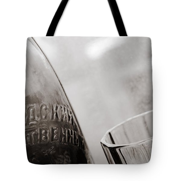 Tote Bag featuring the photograph Vintage Beer Bottle Ussr by Andrey  Godyaykin