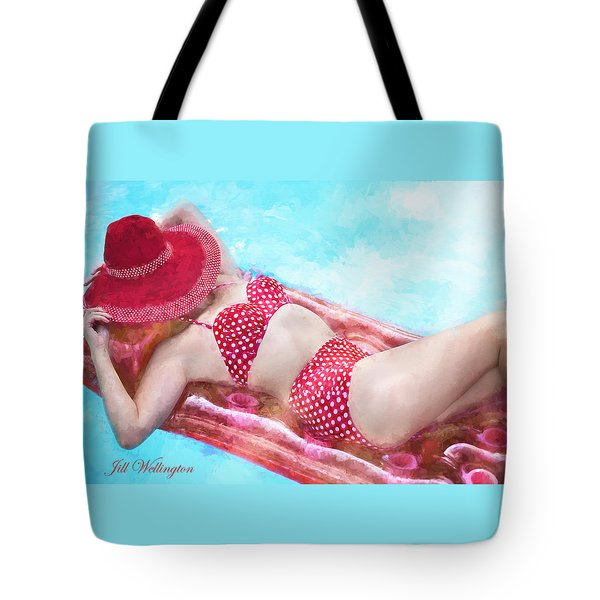 Vintage Val Poolside Tote Bag