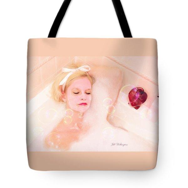Vintage Valentine Date Tote Bag by Jill Wellington