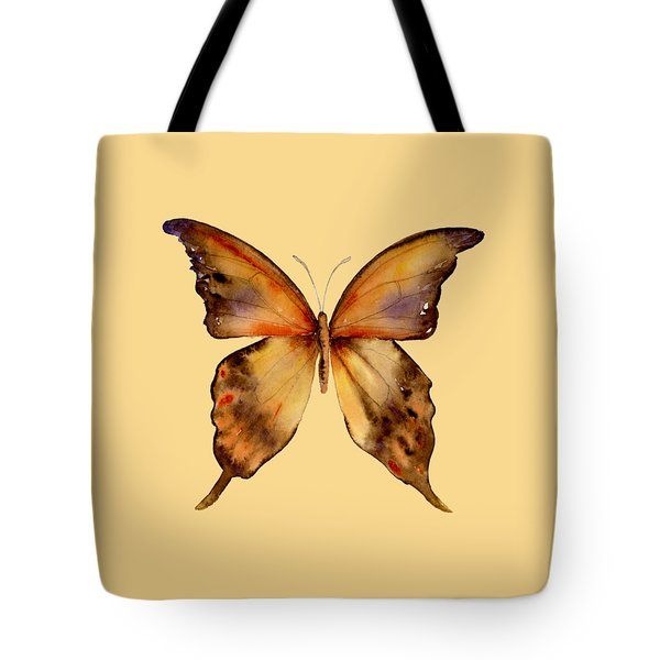 7 Yellow Gorgon Butterfly Tote Bag by Amy Kirkpatrick