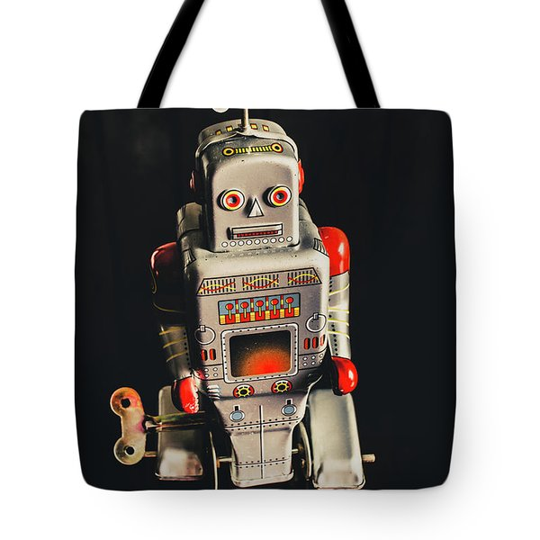 70s Mechanical Android Bot  Tote Bag