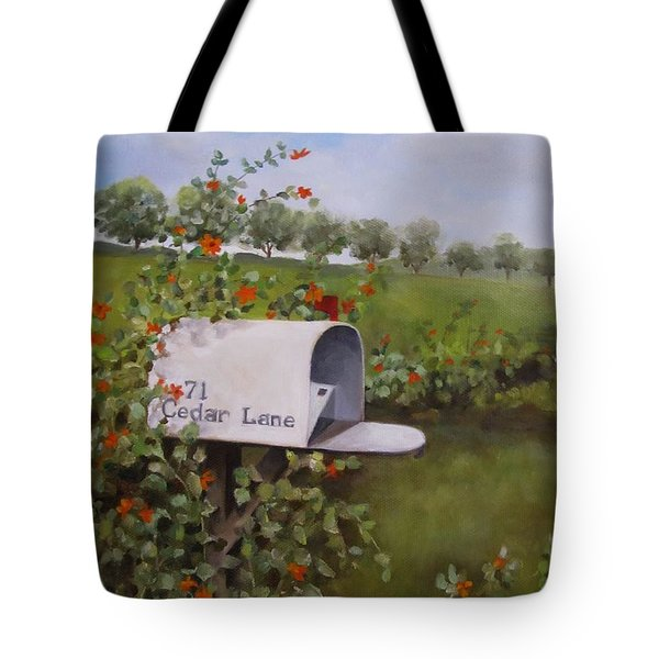 71 Cedar Lane Tote Bag by Karen Olson