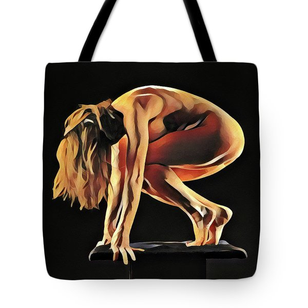 7188s-amg Nude Watercolor Of Sensual Mature Woman Tote Bag