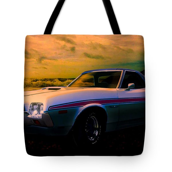 72 Ford Ranchero By The Sea Tote Bag