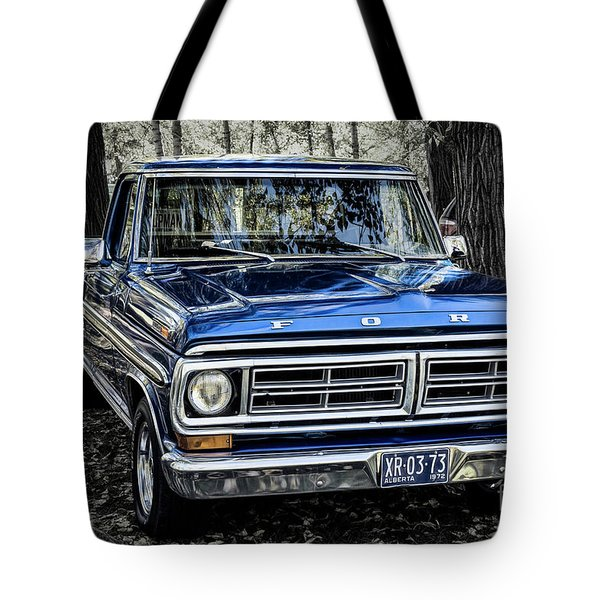 Tote Bag featuring the photograph 73 Ford Pickup by Brad Allen Fine Art