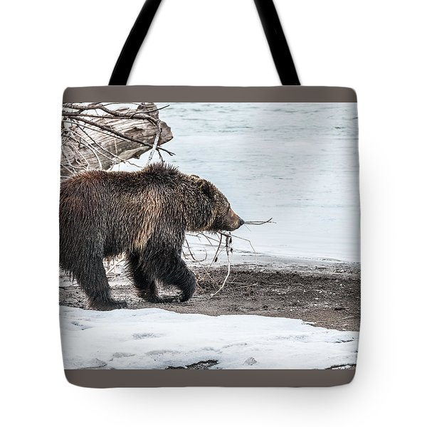 Tote Bag featuring the photograph #760 At The River In Early Spring by Yeates Photography