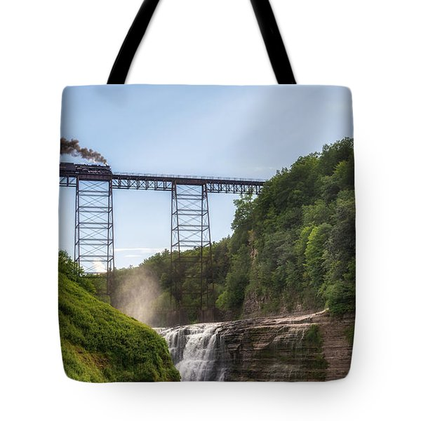 Tote Bag featuring the photograph 765 Over Upper Falls by Mark Papke