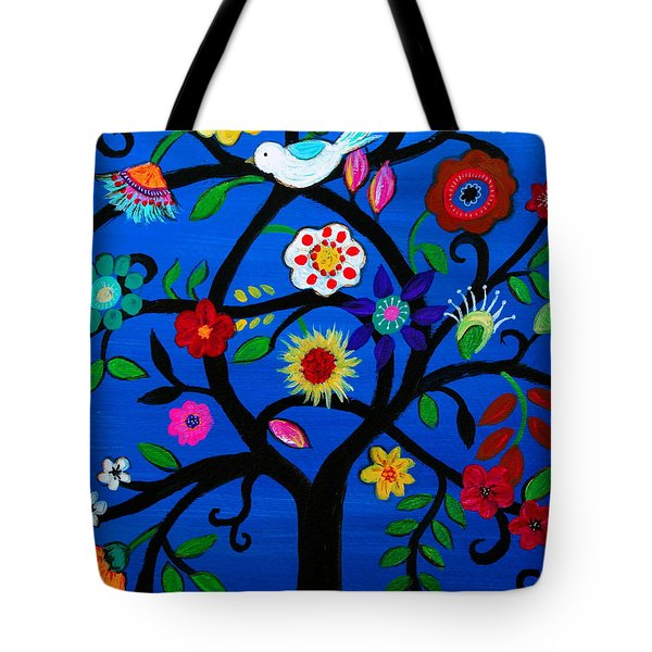 Tote Bag featuring the painting Tree Of Life by Pristine Cartera Turkus