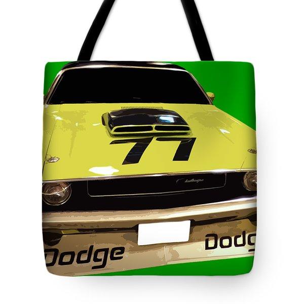 77 Yellow Dodge Tote Bag