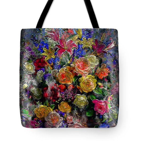 7a Abstract Floral Painting Digital Expressionism Tote Bag