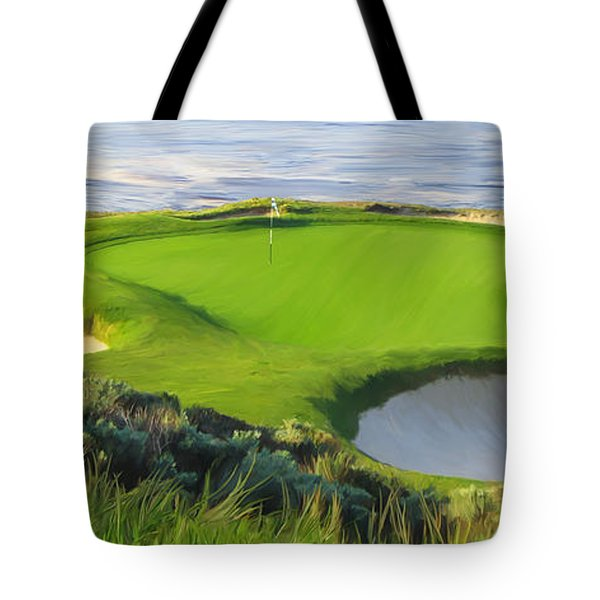 7th Hole At Pebble Beach Hol Tote Bag