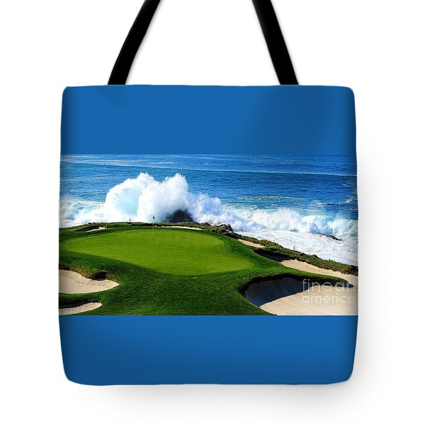 7th Hole - Pebble Beach  Tote Bag