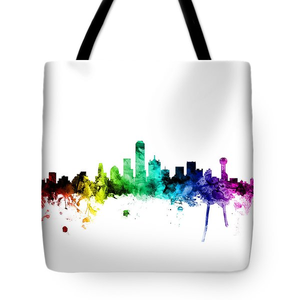 Dallas Texas Skyline Tote Bag by Michael Tompsett