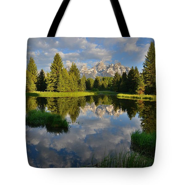 Grand Teton National Park Tote Bag by Ray Mathis
