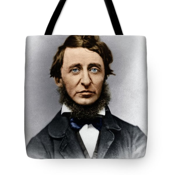 Tote Bag featuring the photograph Henry David Thoreau by Granger