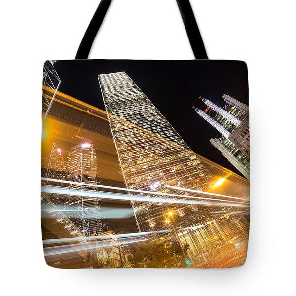 Hong Kong Night Rush Tote Bag