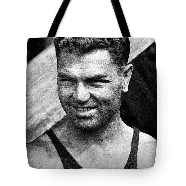 Jack Dempsey (1895-1983) Tote Bag by Granger