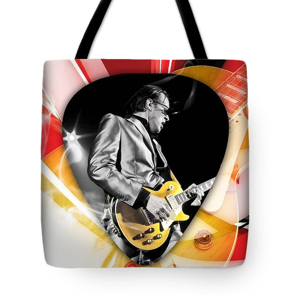Joe Bonamassa Blues Guitarist Art Tote Bag by Marvin Blaine