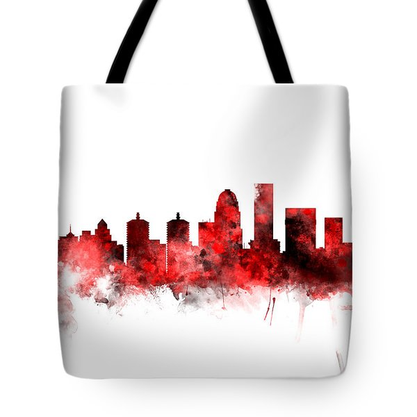 Louisville Kentucky City Skyline Tote Bag