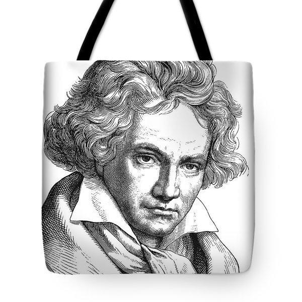 Ludwig Van Beethoven Tote Bag by Granger