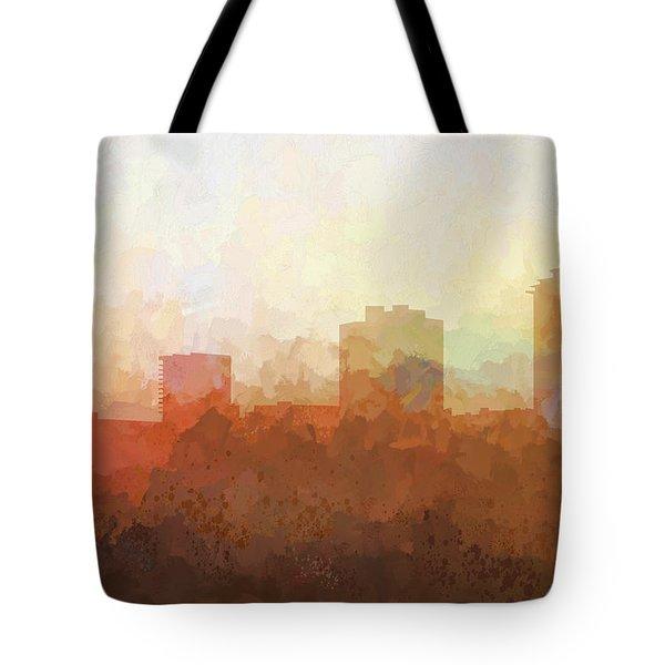 Tote Bag featuring the digital art New Orleans Louisiana Skyline by Marlene Watson