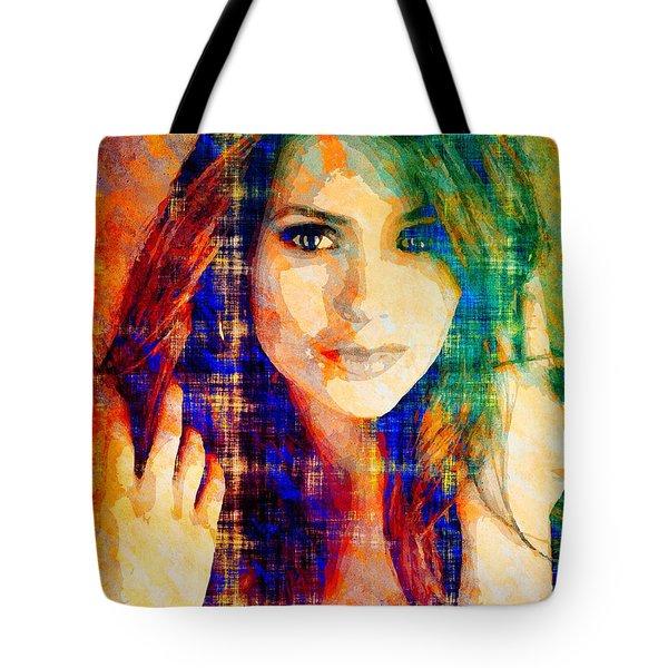 Nina Dobrev Tote Bag by Svelby Art