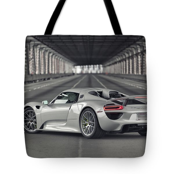 Tote Bag featuring the photograph Porsche 918 Spyder  by ItzKirb Photography