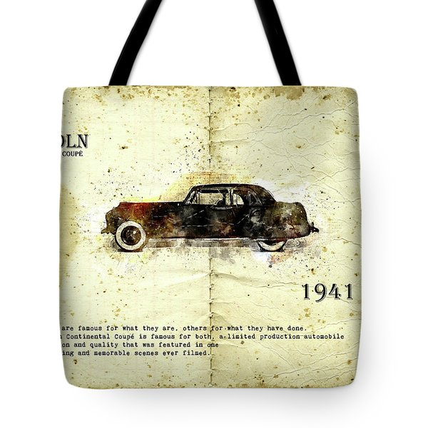Tote Bag featuring the digital art Retro Car In Sketch Style by Ariadna De Raadt