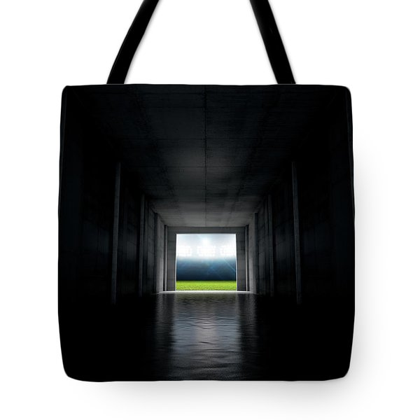 Sports Stadium Tunnel Tote Bag