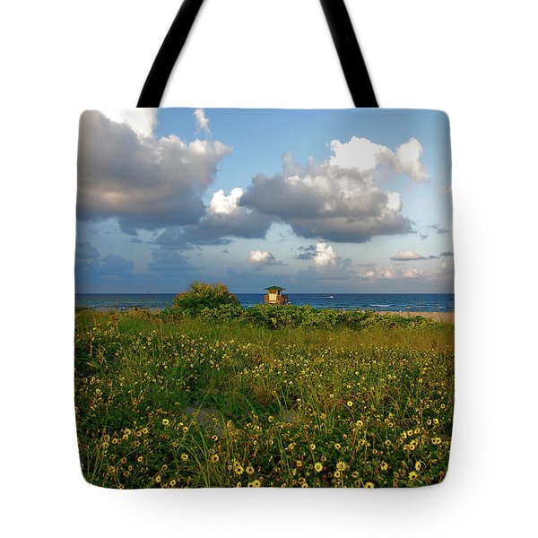 Tote Bag featuring the photograph 8- Sunflowers In Paradise by Joseph Keane