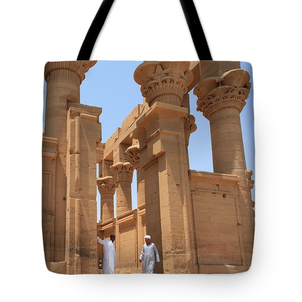 Temple Of Isis Tote Bag by Silvia Bruno