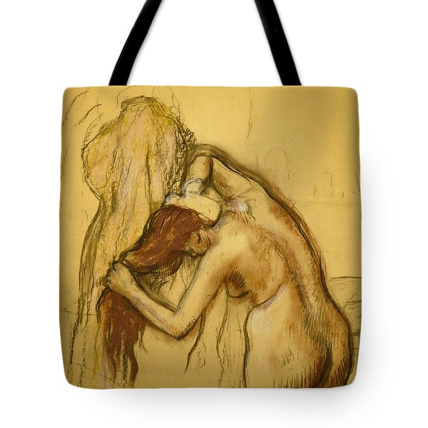 Woman Drying Herself Tote Bag by Edgar Degas